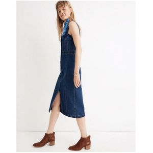 28875a43354 Madewell Dresses - Madewell denim covered-button dress-j7810-goswell